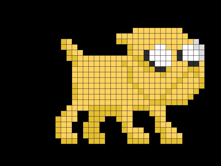 8 Bit Jake Perler Bead Pattern / Bead Sprite