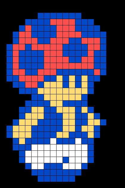 8 bit toad perler bead pattern bead sprites characters