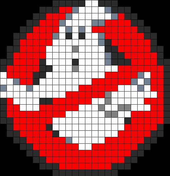 Ghostbusters Perler Bead Pattern / Bead Sprite