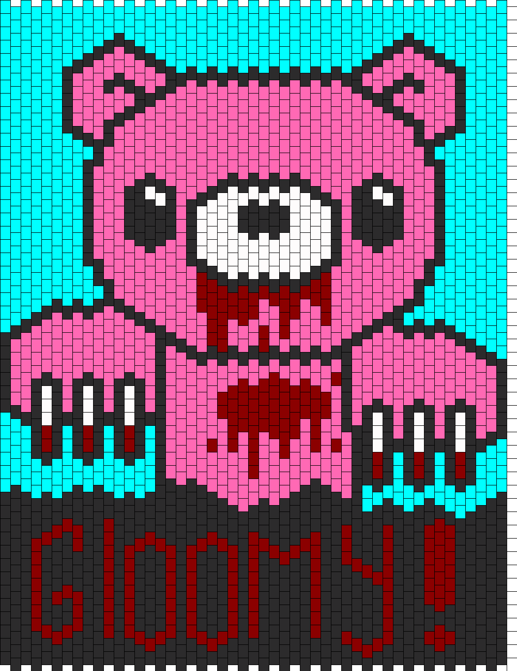 Gloomy Bear Panel Bead Pattern