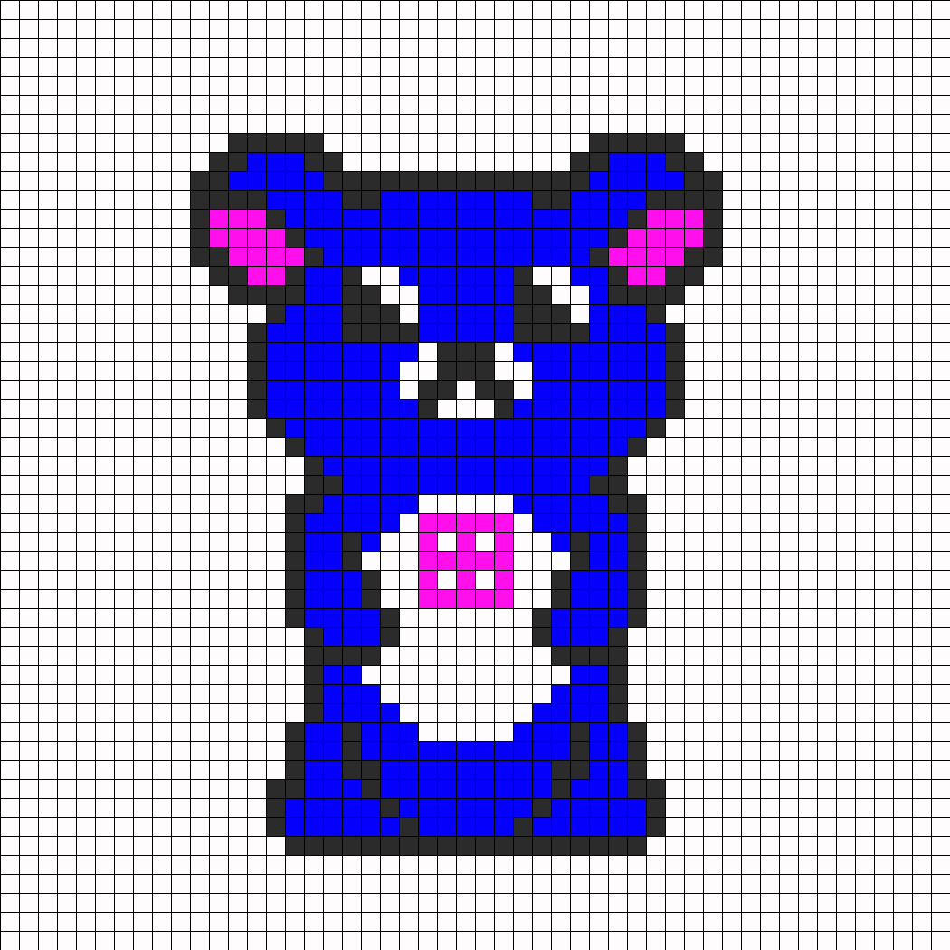 my version of rilakkuma blue and pink