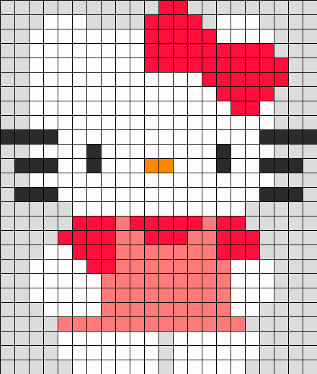 Hello Kitty Perler Bead Pattern / Bead Sprite