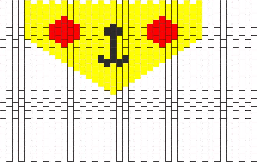 Pikachu Bandana Bead Pattern