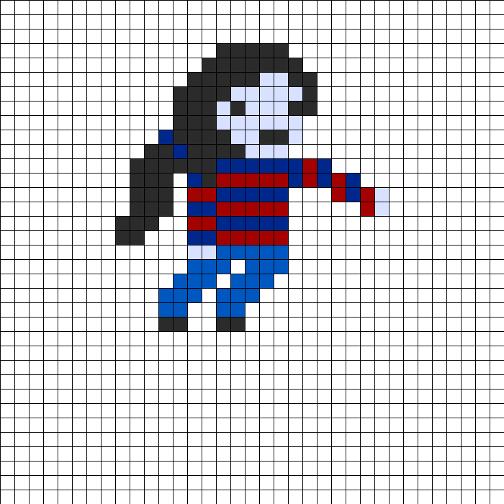 Adventure Time Marceline Perler Bead Pattern / Bead Sprite