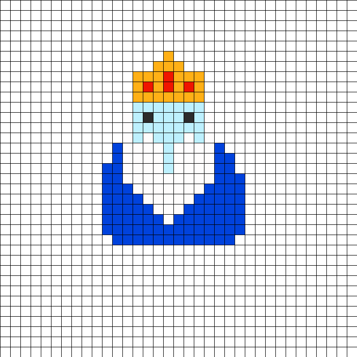 Adventure Time Ice King Perler Bead Pattern / Bead Sprite