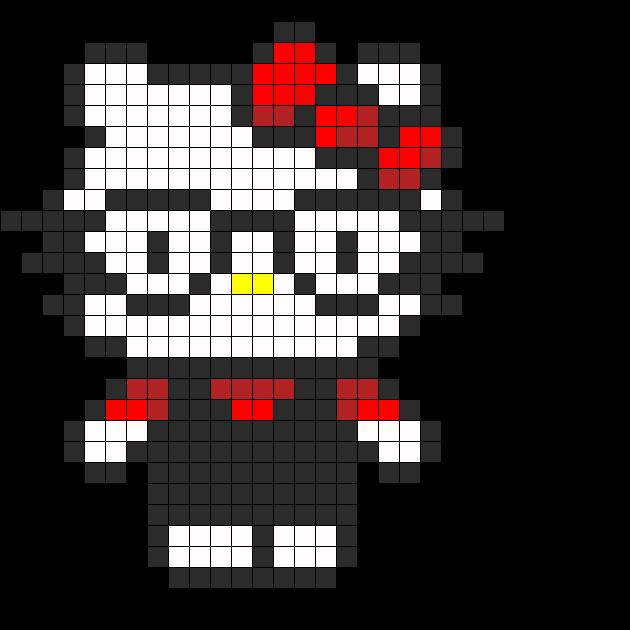 Nerd Hello Kitty Perler Bead Pattern / Bead Sprite