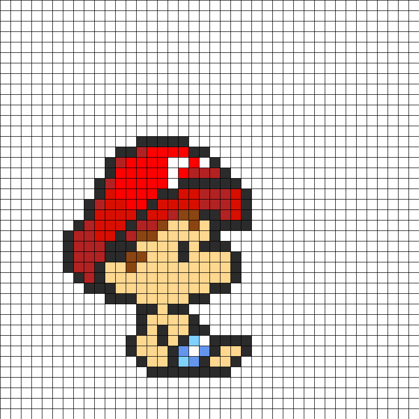 Baby Mario Perler Bead Pattern / Bead Sprite