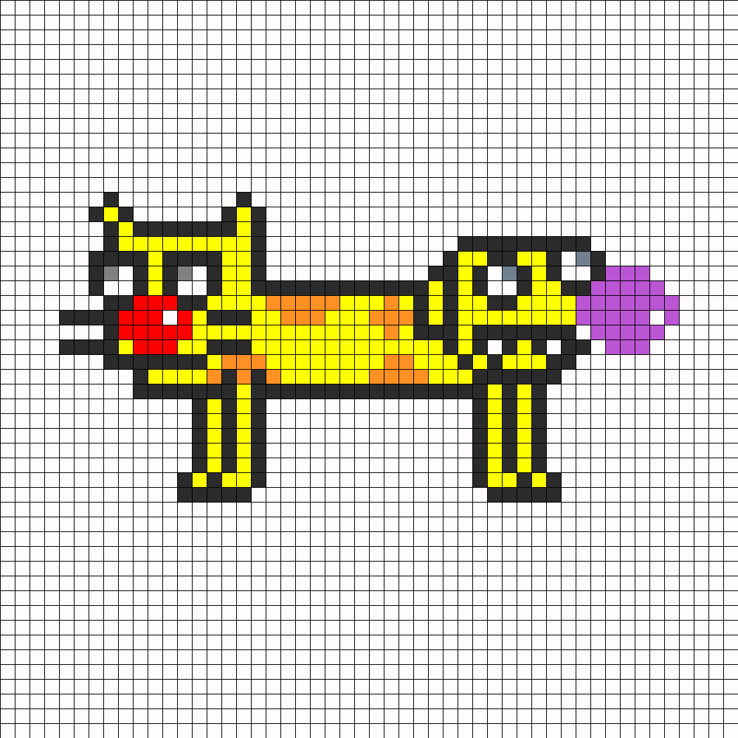 Cat Dog Perler Bead Pattern / Bead Sprite