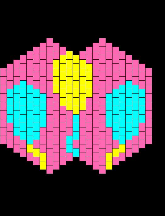 Pinkie Pie Cutie Mark Bead Pattern