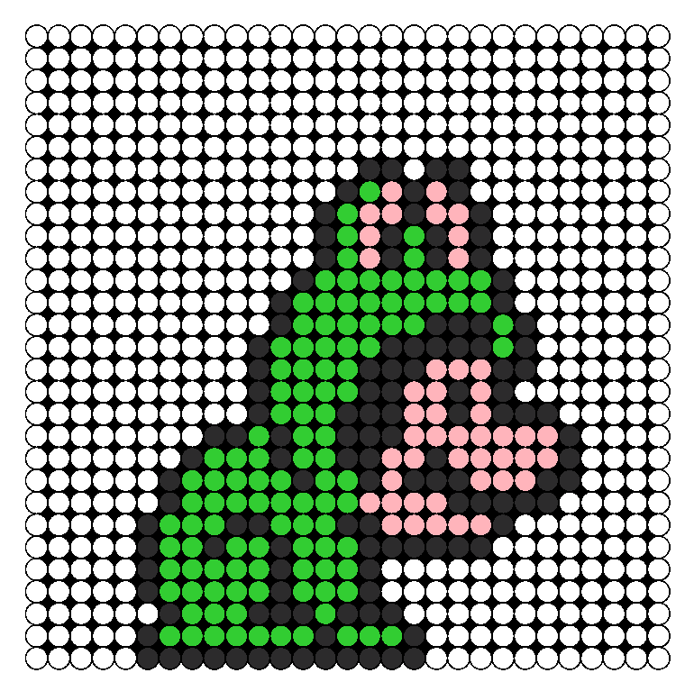 Frog Mario Perler Bead Pattern / Bead Sprite