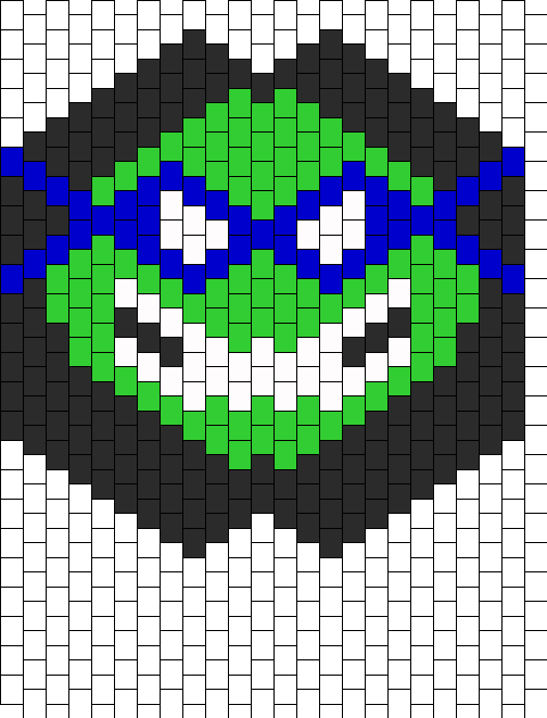 Large Leonardo TMNT Teenage Mutant Ninja Turtle Kandi Mask