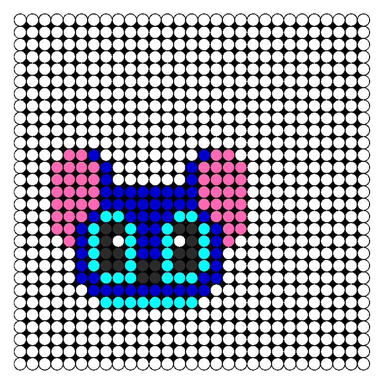 Stitch Head Perler Bead Pattern / Bead Sprite