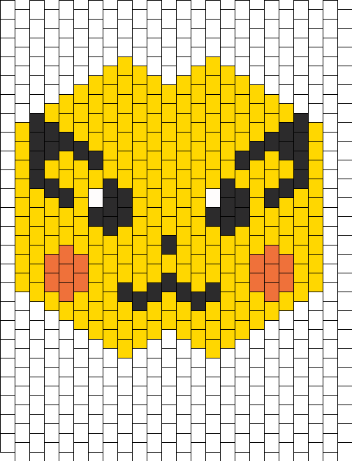 Pikachu Mask Bead Pattern | Peyote Bead Patterns ...