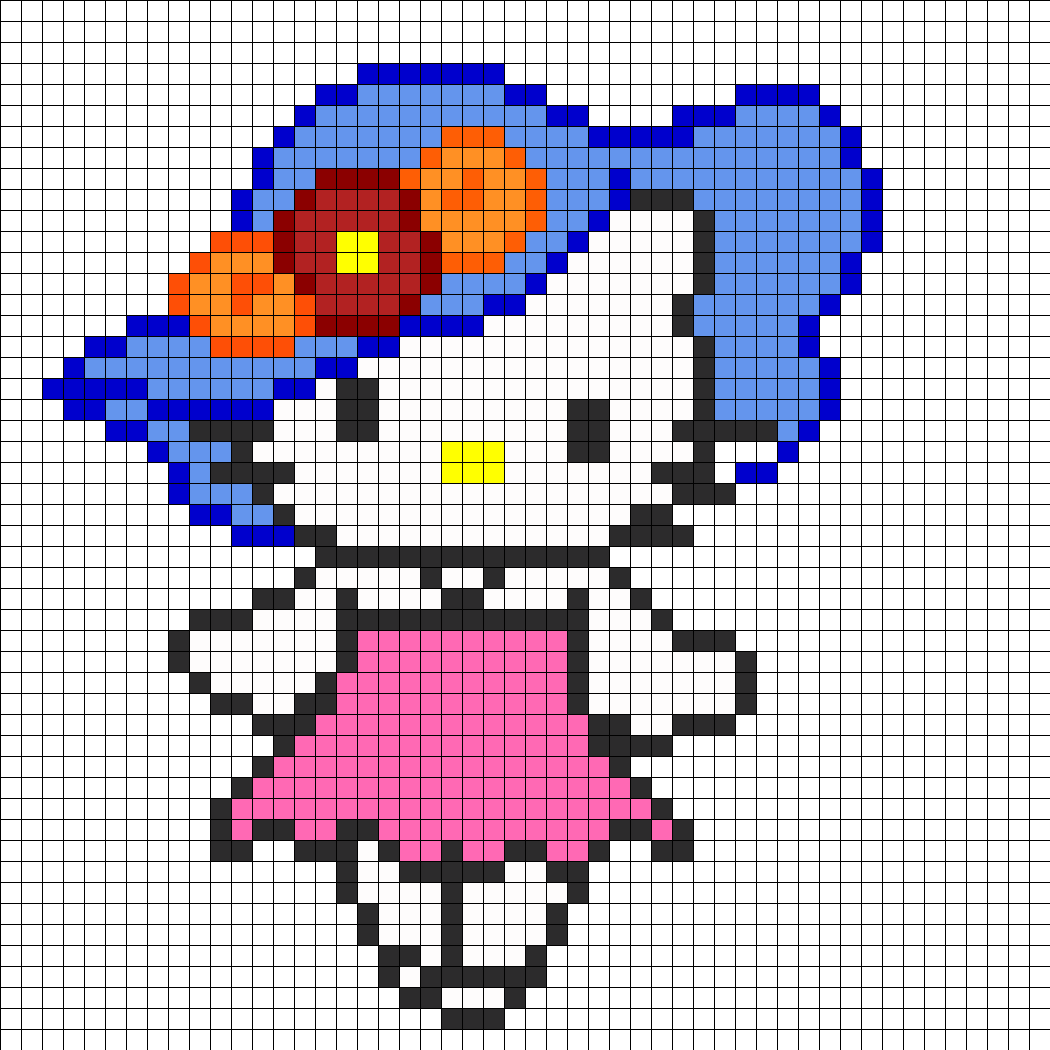 hello kitty in blue hat