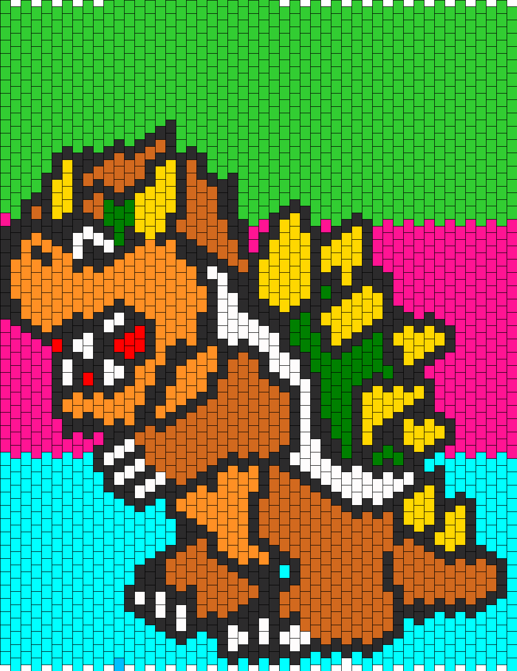 Bowser Bead Pattern