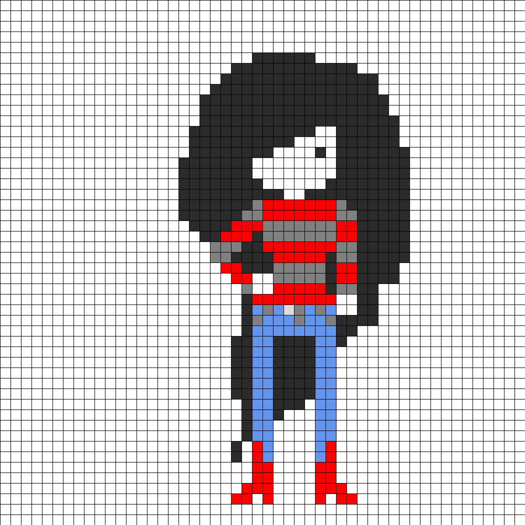 Marceline Adventure Time Perler Bead Pattern / Bead Sprite