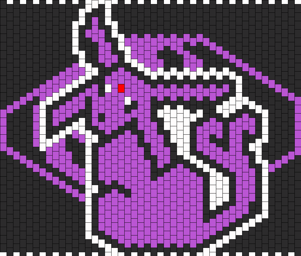 Espeon With Psychi Symbol Bead Pattern