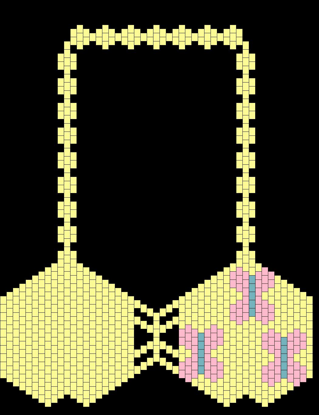 MLP Fluttershy Cutie Mark Kandi Bikini Bra