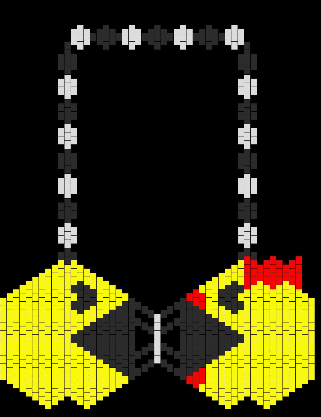 Pacman Vs Ms Pacman Kandi Bikini Bra Bead Pattern