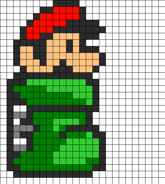 Mario in green tube