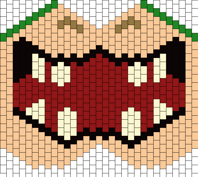 Mario Bowser Snout Mouth Mask Bead Pattern