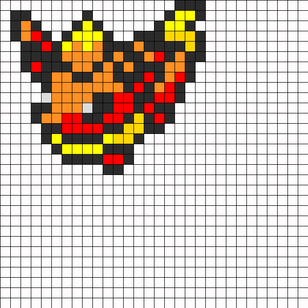 Flareon Perler Bead Pattern / Bead Sprite