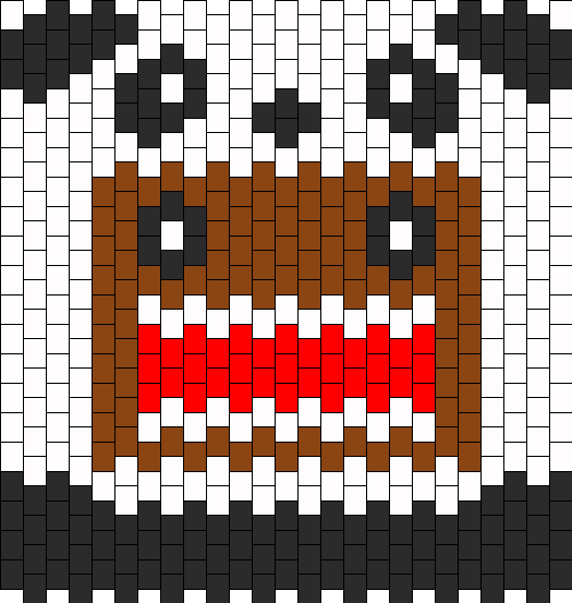 Domo Back Back 3D Bead Pattern