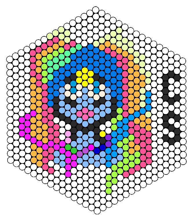 Cerulean Siren Perler Bead Pattern / Bead Sprite