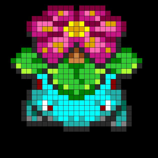 Pokemon Venusaur Fuse Bead Pattern -  8.7KB