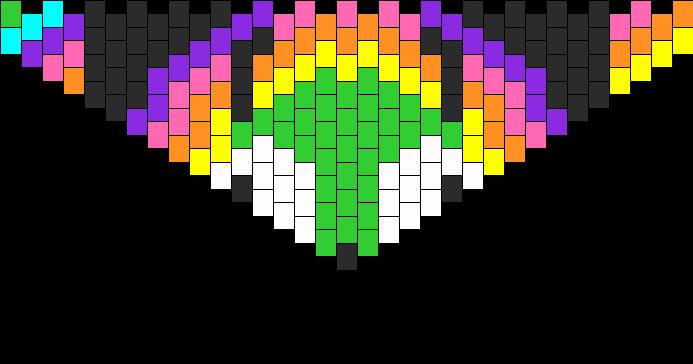 Gir Hearts Rainbows Purse Flap Bead Pattern