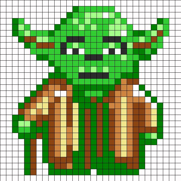 Yoda Perler Bead Pattern / Bead Sprite