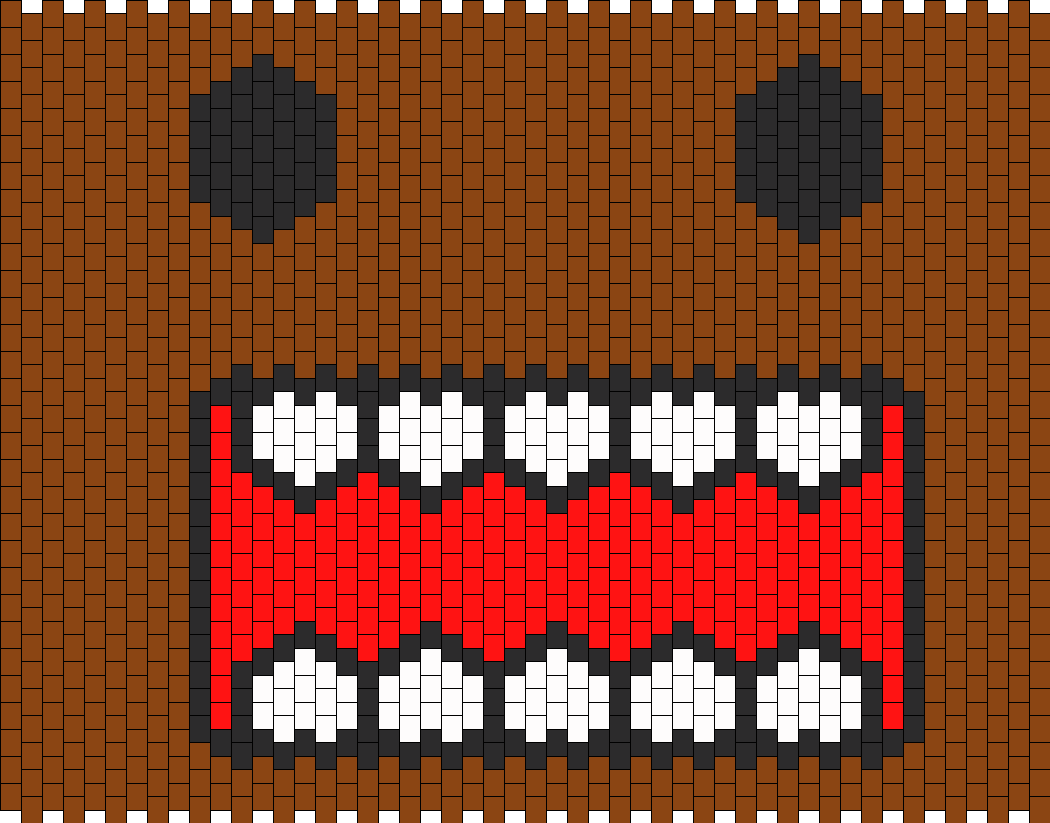 Front Of Domo Bag Bead Pattern