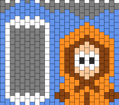 South Park Kenny Ipod Touch Case Bead Pattern