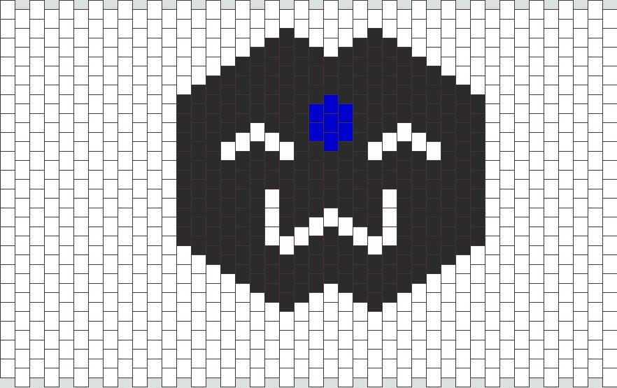 Black Mokona Mask Bead Pattern