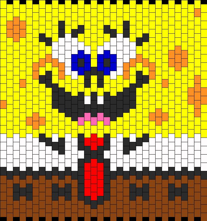 Perler beads spongebob