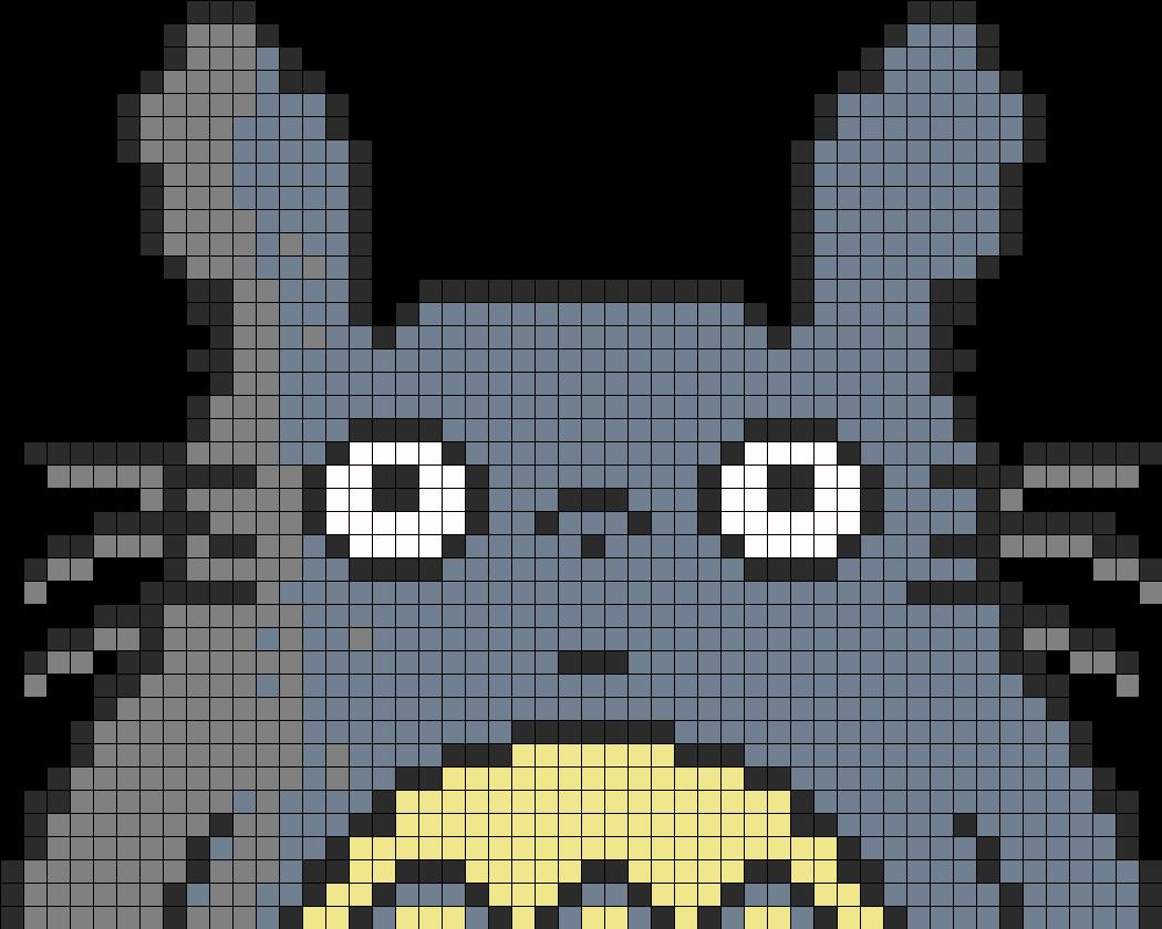 Totoro Perler Bead Pattern / Bead Sprite
