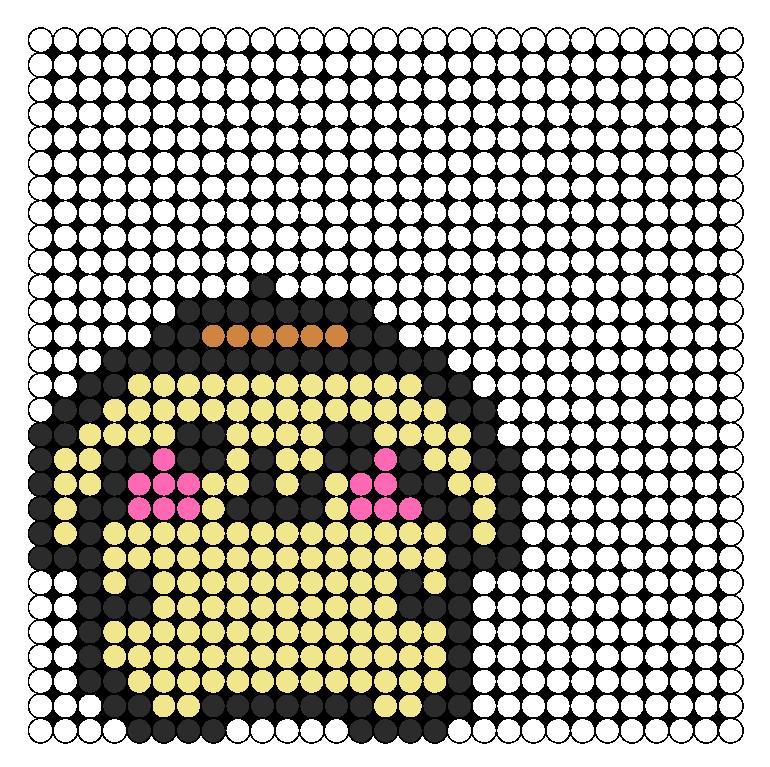 Purin Perler Bead Pattern / Bead Sprite