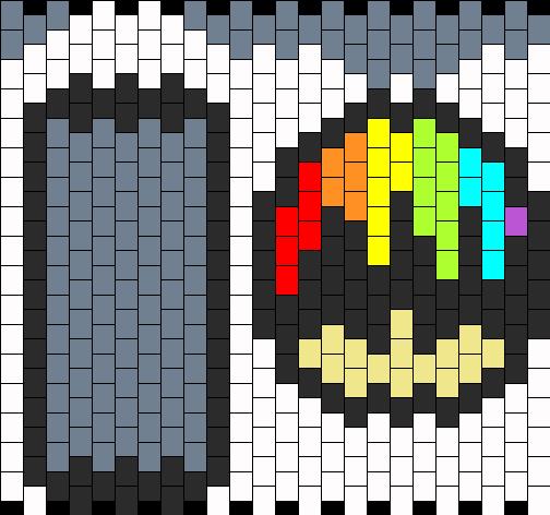 Rainbow Mushroom Bead Pattern
