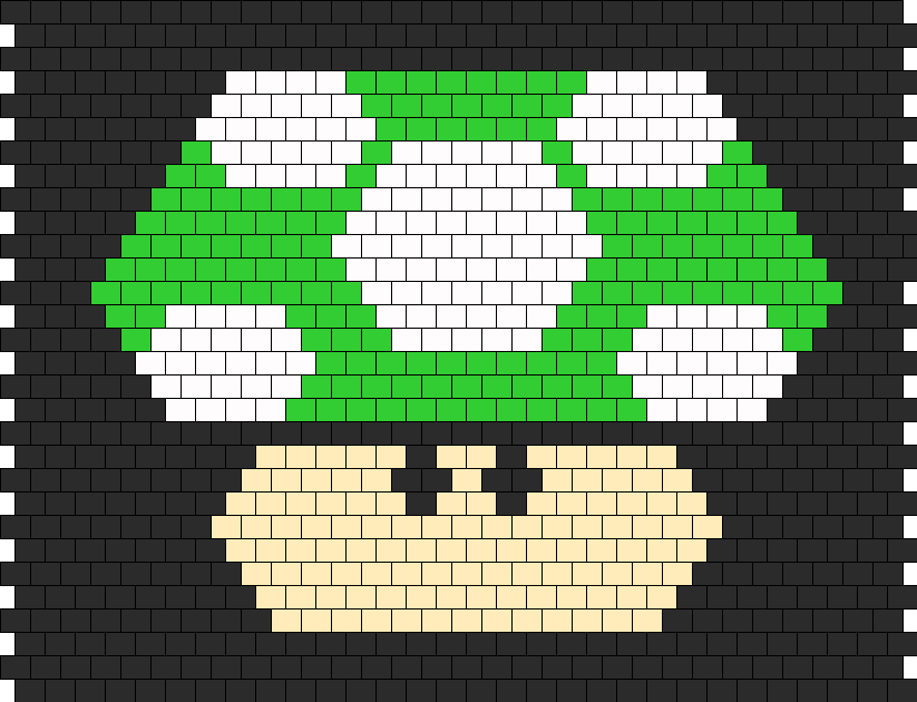 Mario Mushroom Backpack Panel