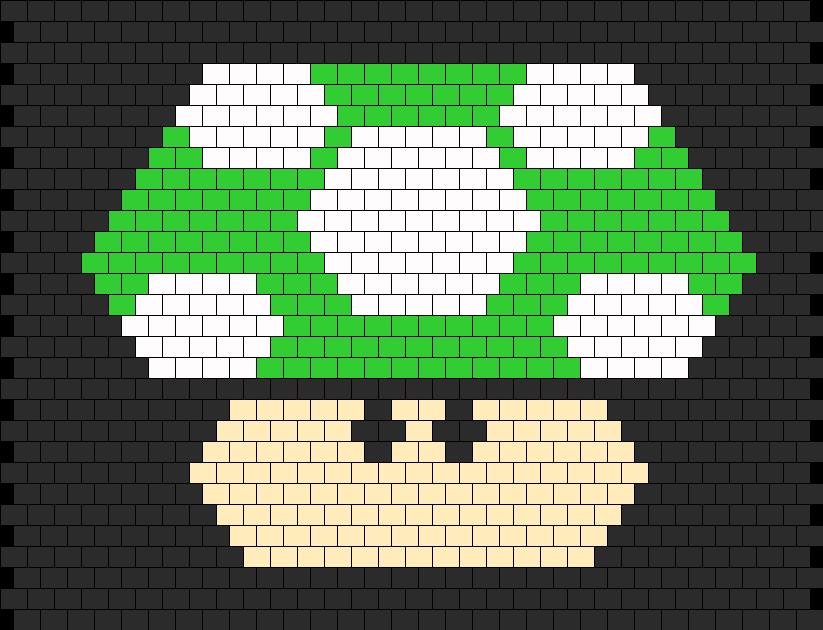 Mario Mushroom Backpack Panel Bead Pattern