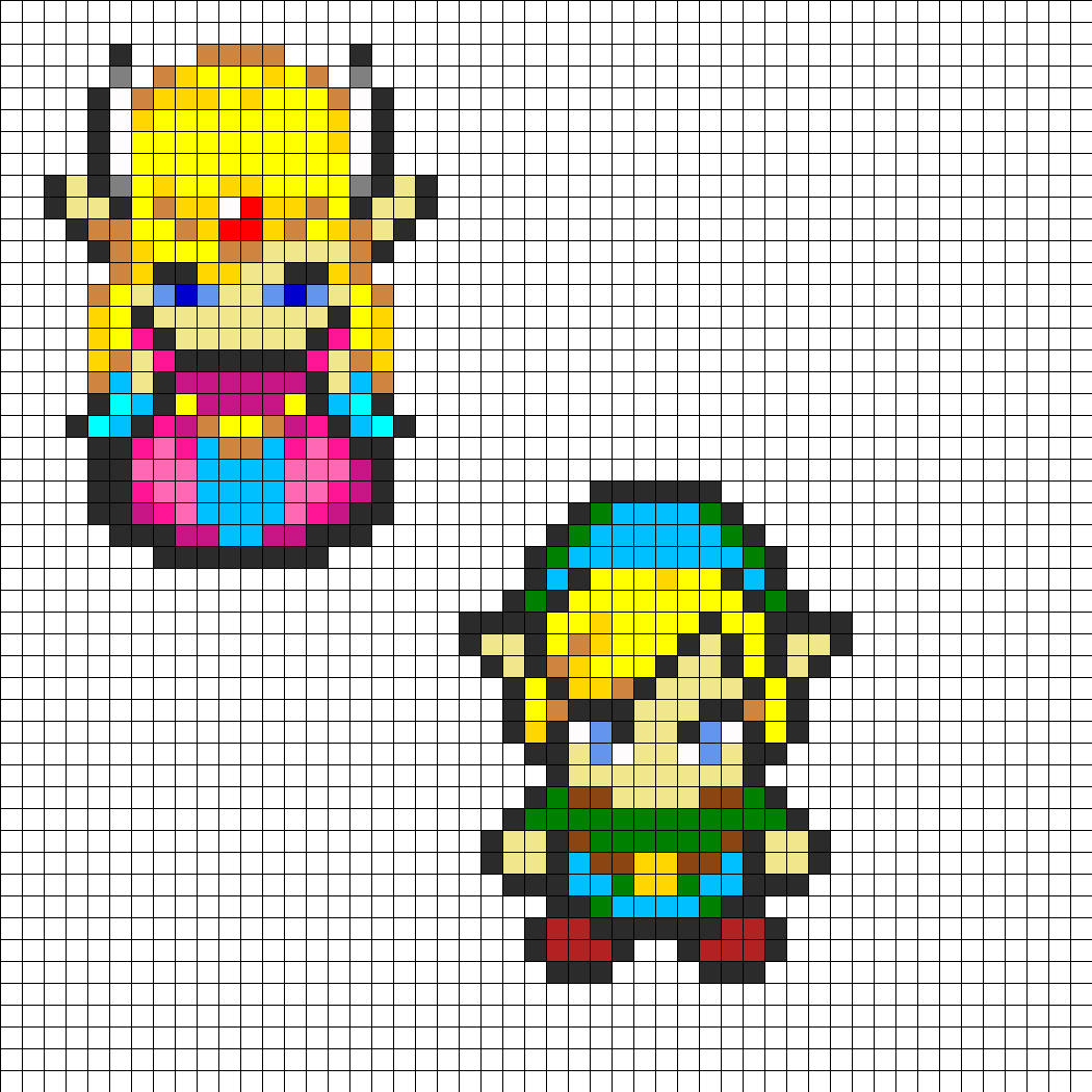 and link combo perler bead pattern bead sprites