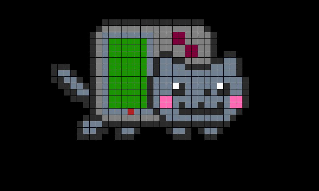 Gameboy Nyan Cat Perler Perler Bead Pattern / Bead Sprite