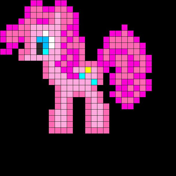 Pinkey Pie Perler Bead Pattern / Bead Sprite