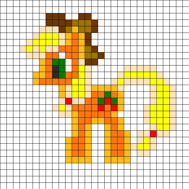 Applejack Perler Bead ...
