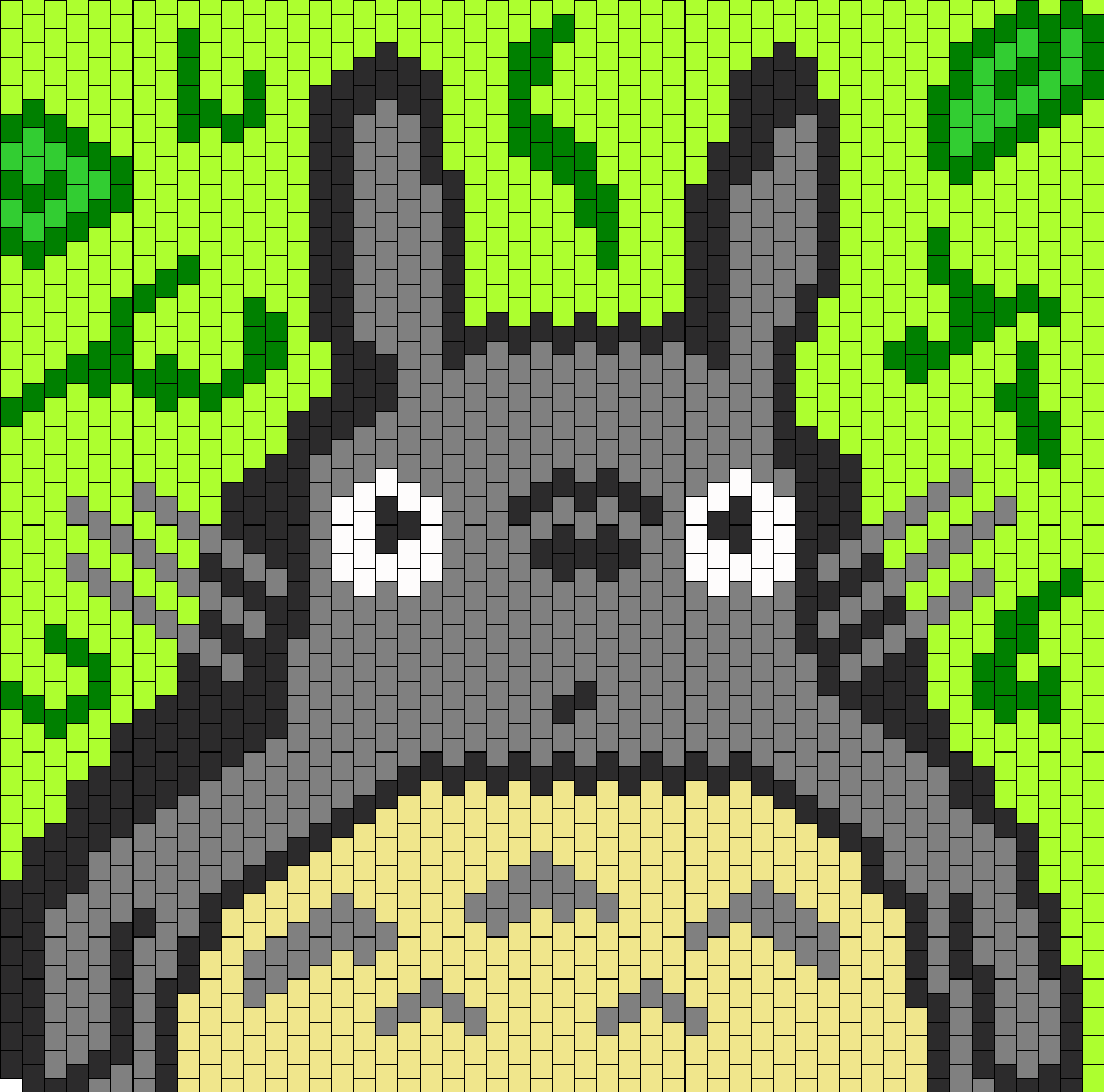 Totoro Bag Panel Bead Pattern
