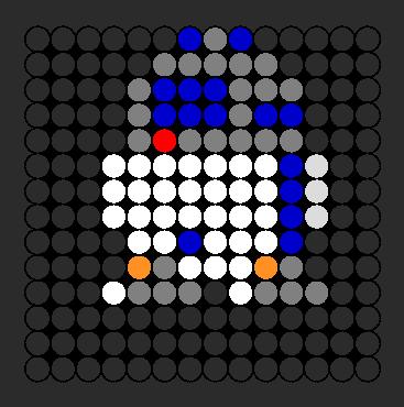 R2d2 Perler Bead Pattern / Bead Sprite
