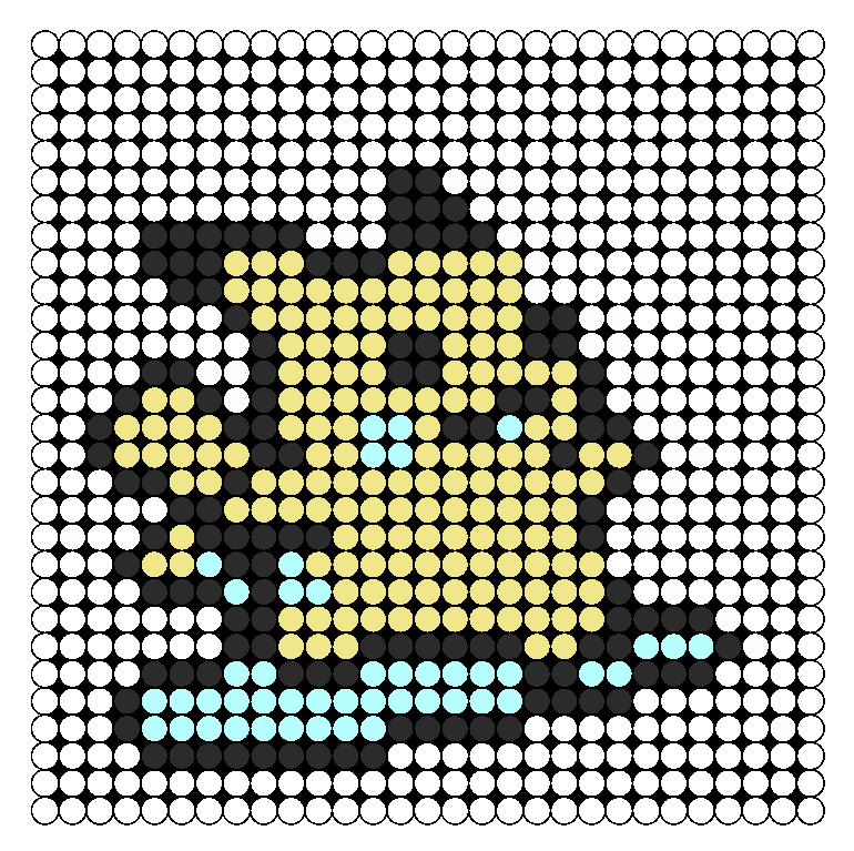 Pikachu Surf Perler Bead Pattern / Bead Sprite