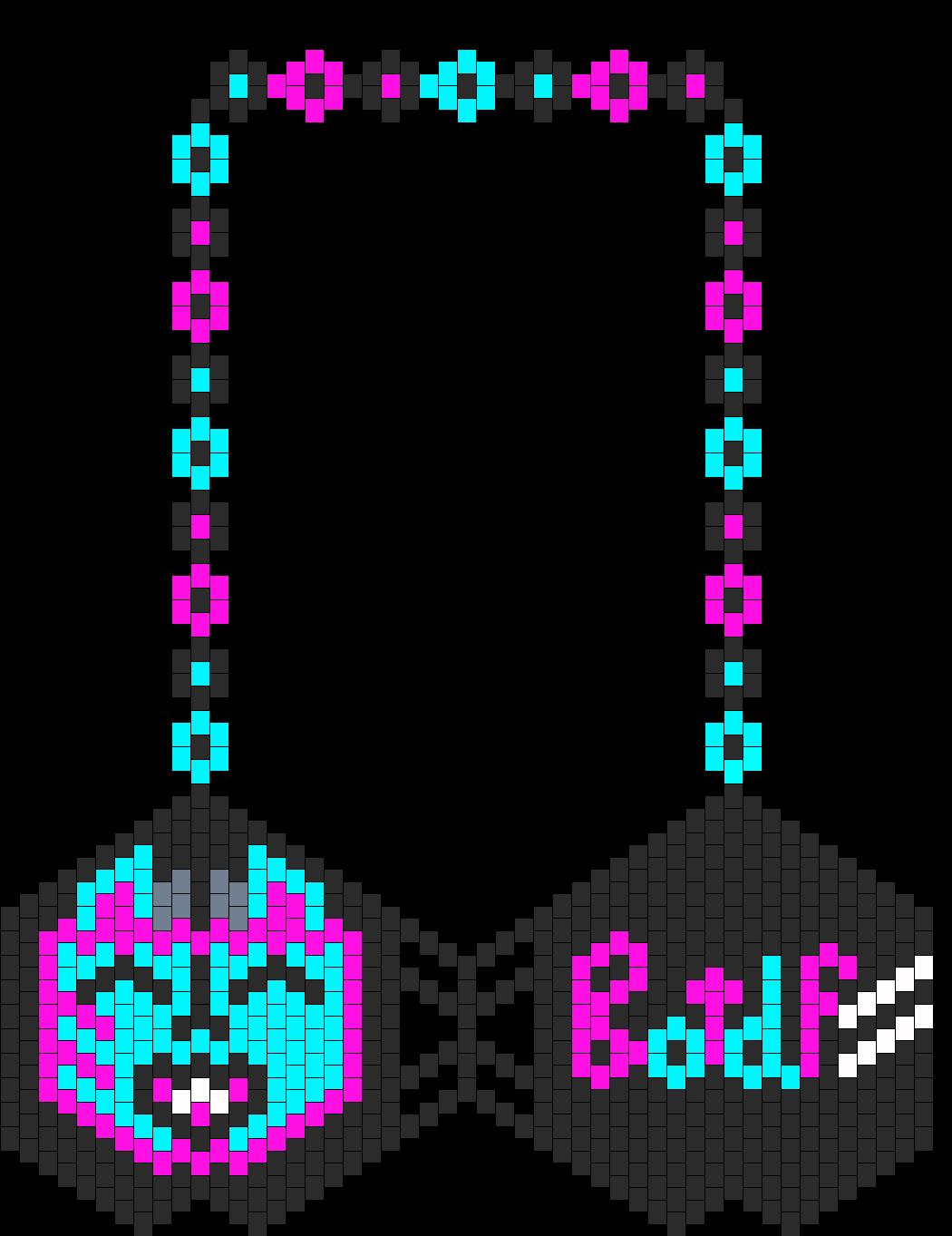 Botdf Bat Bikini Bra Bead Pattern