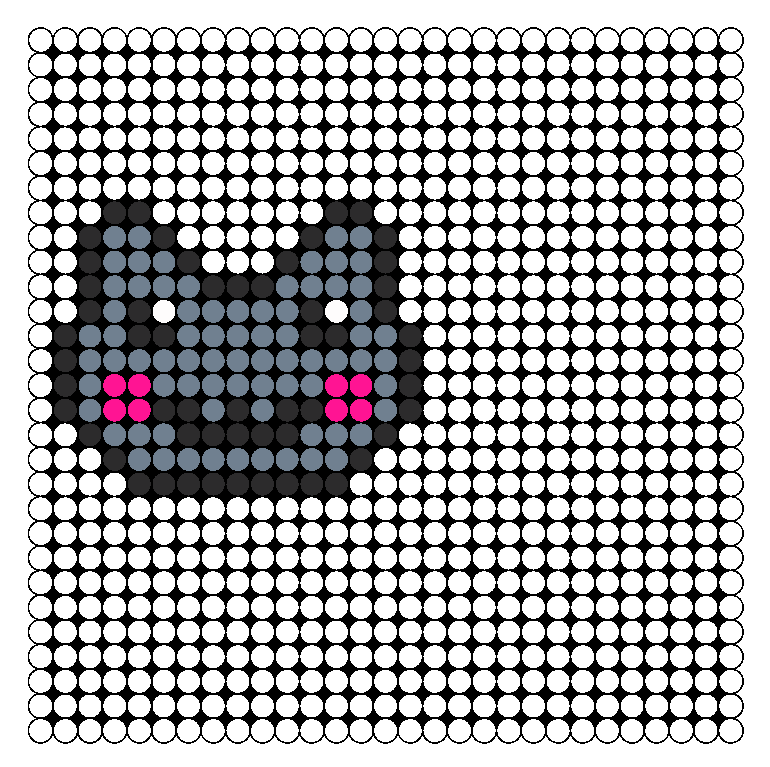 Nyan Cat Head Perler Bead Pattern / Bead Sprite