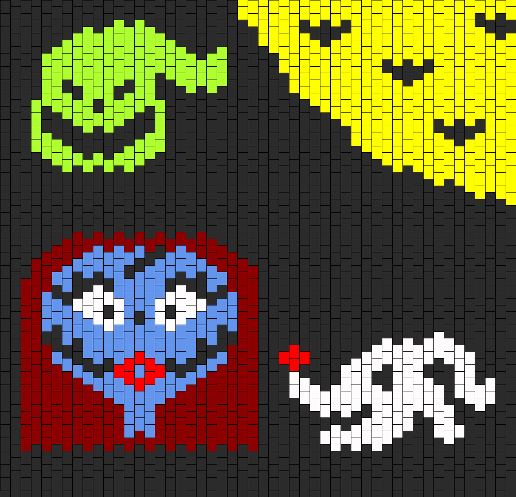 Nightmare Before Christmas Collage Bead Pattern